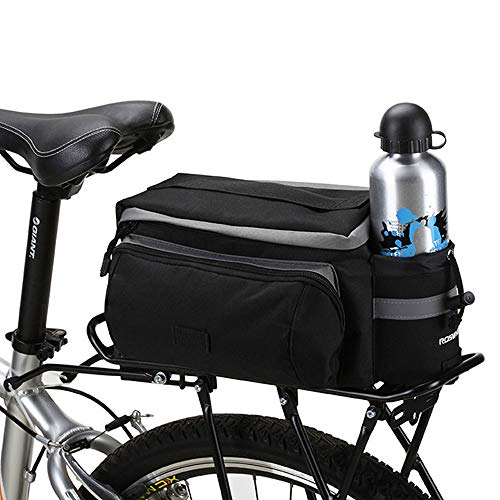 Bicycle Riding Extendable Luggage Bag, 6L Trunk Bag Bike 600D Dacron Panniers Waterproof Cycling Bag Rack 14024 Water Bottle Bag Black Rear Seat Bags Bicycle Accessories