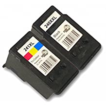 Green Apple Imaging© 2 Pack Made in USA, Remanufactured Canon 240 XXL Black & 241 XL Color Ink Cartridge for Canon Pixma MG3220 MX432 MG2220 MX452 MX512 MG2120 MG3120