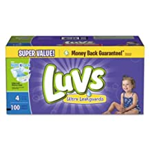 Diapers,Luvs,S4,Spr,100Ct