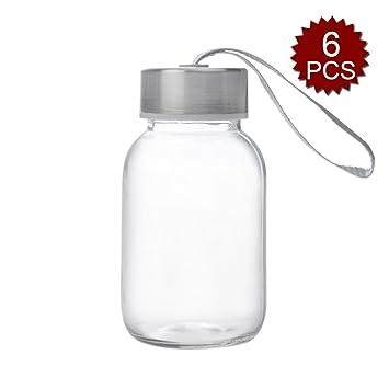 Aspire - Botella de Agua (5oz), Botella de Cristal, Tapas de Acero