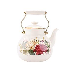 5L Enamel Kettle Retro Hot Milk Teapot Cold Water Bottle Induction Cooker Gas Universal
