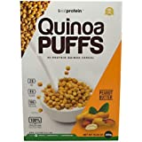 iEatProtein - Quinoa Puffs, Organic and gluten free cereral packed with protein (Peanut Butter)