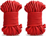 [ Pack of 2 ] Lovess 32-foot 10m Japanese Bondage Soft Silk Rope,Restraint Rope,SM Rope Climbing Camping Utility Rope Role Fun Game Play Kit