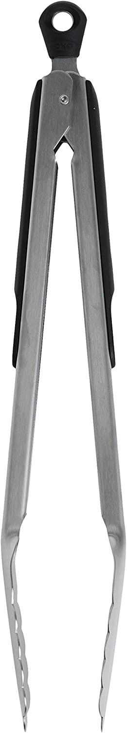 OXO Good Grips 12-Inch Stainless-Steel Locking Tongs Multicolor