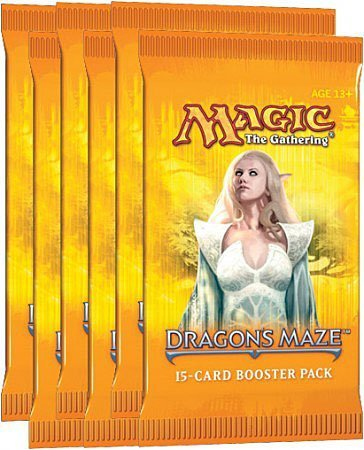 Dragon Booster Pack - Magic the Gathering Dragon's Maze LOT of 6 Booster Packs
