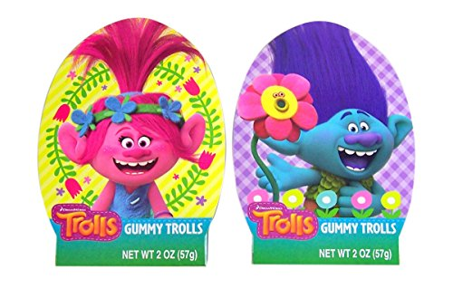 Dreamworks Trolls Poppy and Branch Gummy Candy Gift Box, 2 o