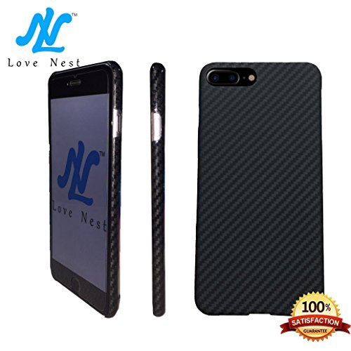 - Love Nest - Case for Iphone 7/ Iphone 7 Plus Case Interlocking Aero-space Bumper with High-degree Solid 100% Real Carbon Fiber Pattern Back Shell Case