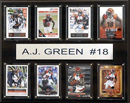 NFL Cincinnati Bengals A.J. Green 8-Card Plaque, 12 x 15-Inch