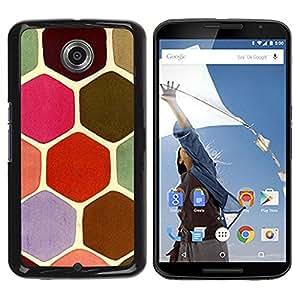 Be Good Phone Accessory // Dura Cáscara cubierta Protectora Caso Carcasa Funda de Protección para Motorola NEXUS 6 / X / Moto X Pro // Pastel Tone Colors Pink Turtle