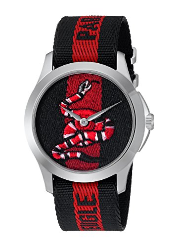 Gucci Quartz Stainless Steel and Nylon Casual Two-Tone Men s Watch Model YA126493