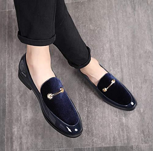 LOVDRAM Chaussures En Cuir Pour Hommes Marques De Luxe Classiques Bout Pointu Hommes Formelle Chaussures D'Affaires De Mariage En Cuir Verni Oxford Chaussures Pour Hommes Habille Chaussures 7 Comme Pi