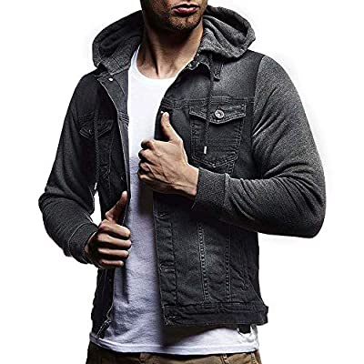 SMALLE ??? Clearance,Mens' Autumn Winter Hooded Vintage Distressed Demin Jacket Tops Coat Outwear