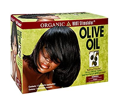 Organic Root Stimulator Org Root Stim Olive Oil Relaxer Normal, Pack of 3