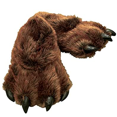 Amazon.com: Medium Brown Grizzly Bear Paw Slippers: Shoes