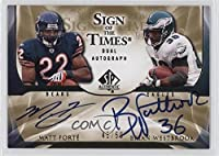 Matt Forte; Brian Westbrook #45/50 (Football Card) 2009 SP Authentic - Sign of the Times Dual Autographs #ST2-WF