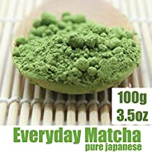 Matcha Green Tea Powder - ORGANIC - Pure Japanese - Superior Daily Antioxidant Content - All Day Energy - Improved Health - Green Tea Lattes - Smoothies (100g / 3.5oz)