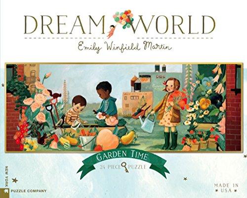New York Puzzle Company - Dream World Garden Time - 24 Piece Jigsaw Puzzle