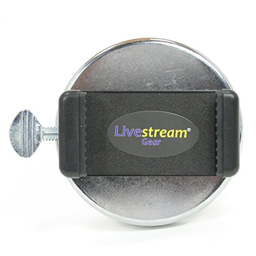 Livestream Gear - 100 lb. Magnetic Phone Mount Regular Size Phones. Super Strong. Great for Video at The Gym, Pictures, Livestreaming, or WOD. (Md. Magnetic Mount)