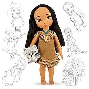 Disney Princess Animators' Collection Toddler Doll 16'' H - Pocahontas with Plush Friend Meeko