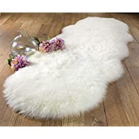 Chesserfeld Luxury Faux Fur Sheepskin Rug, Ivory, 2ft x 6ft with Thick Pile | Machine Washable, Makes a Soft, Stylish Home Décor Accent for a Kids Room, Bedroom, Nursery, Living Room or Bath