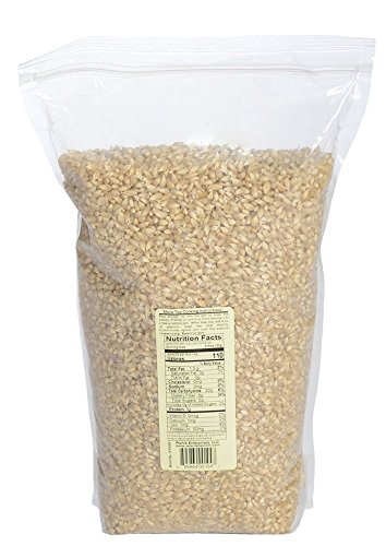 Riehle's Select Popping Corn - Hulless Baby White Whole Grain Popcorn - 6lb (96oz) Resealable Bag