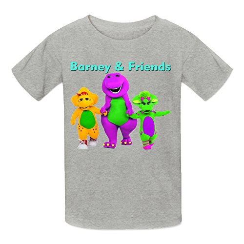 Kidsloveit Kids Boys Girls Barney amp Amp Friends Graphic T-Shirts S Grey - Barney And Friends Clothes