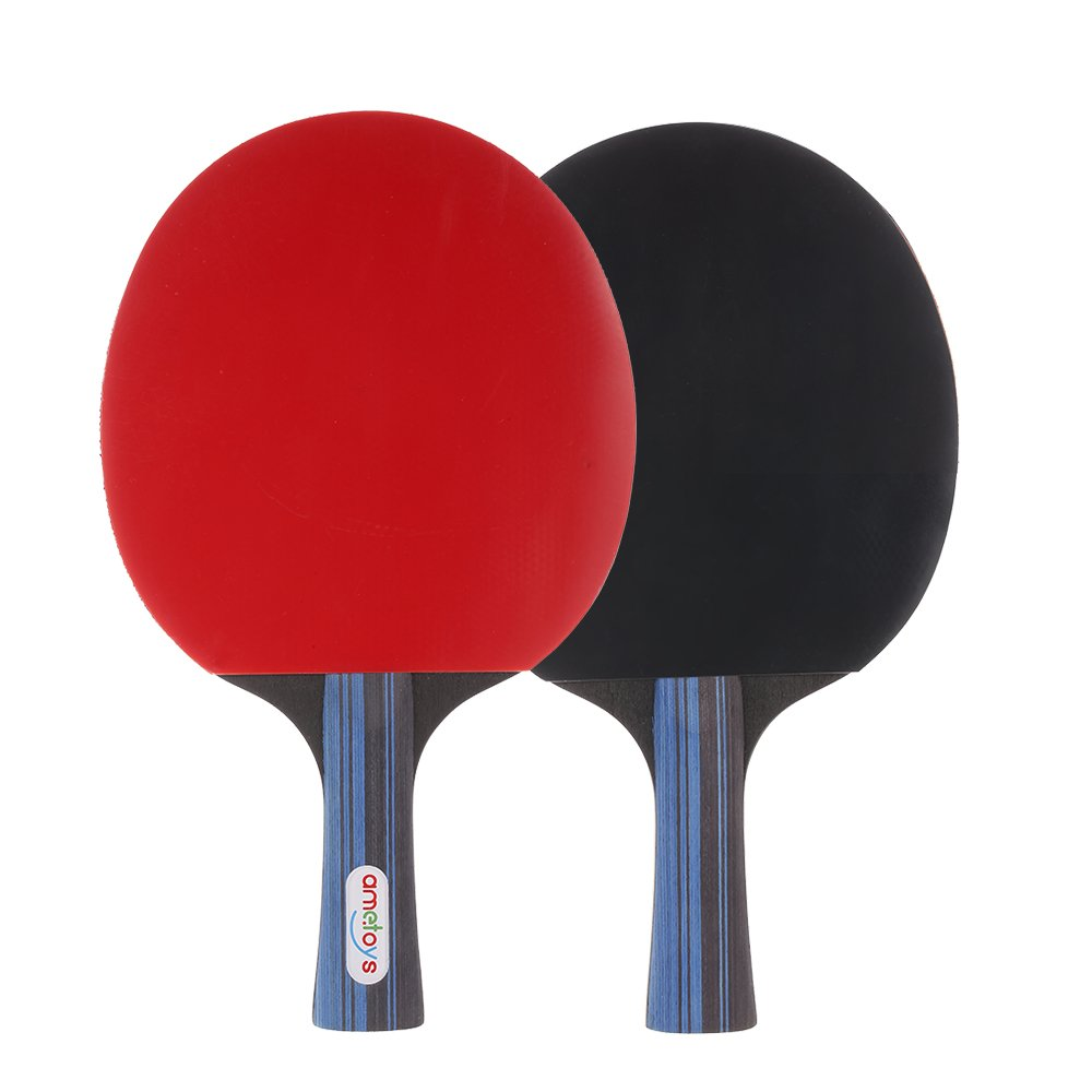 Ametoys Table Tennis Set Ping Pong Sports Toy Professional Recreational Games 2 Paddles 3 Table Tennis Balls with Carry Case