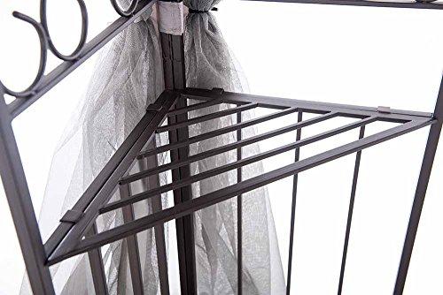 Sunjoy 10' x 12' Monterey Gazebo with Netting,Gray with Black