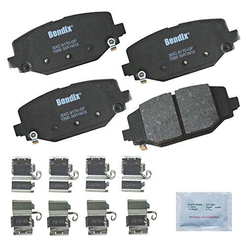 Bendix CFC1596 Premium Copper Free Ceramic Brake Pad (with Installation Hardware Rear)
