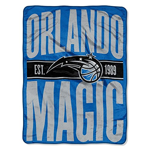 The Northwest Company NBA Orlando Magic Clear Out Micro Raschel Throw Blanket, Blue, One Size