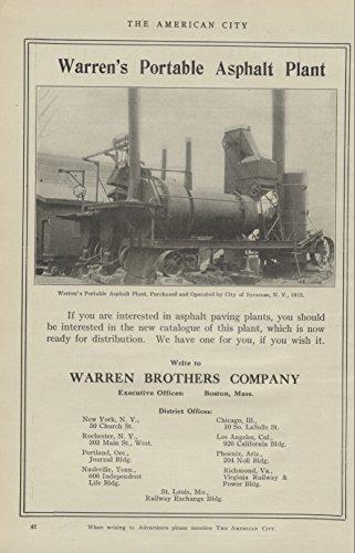 1916-ad-warren-brothers-portable-asphalt-plant-municipal-work-original-vintage-advertising