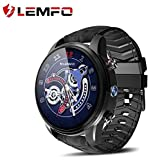 LEMFO LEF3 Smart Watch - Android 7.1 GPS LTE 4G Smart Watch Phone Heart Rate 1GB + 16GB Memory with 2MP Camera (Black)