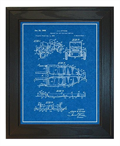 Vehicle For Off-the-road Service Patent Art Blueprint Print