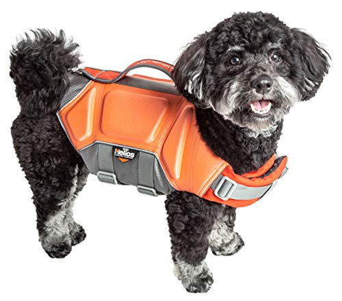 Dog Helios 'Tidal Guard' Multi-Point Strategically-Stitched Reflective Pet Dog Life Jacket Vest, Large, Orange by Pet Life (Image #3)