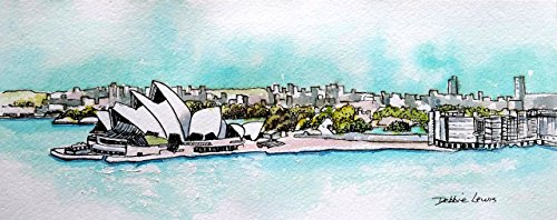 sydney-opera-house-and-skyline-original-watercolor-painting