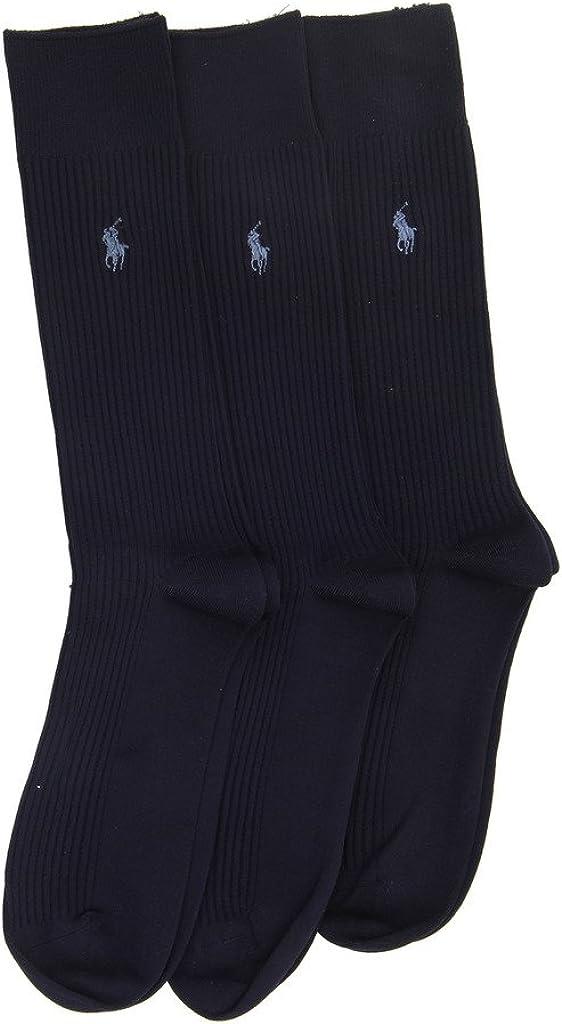 Polo Ralph Lauren Men's Microfiber Ribbed Slack Socks 3-Pair