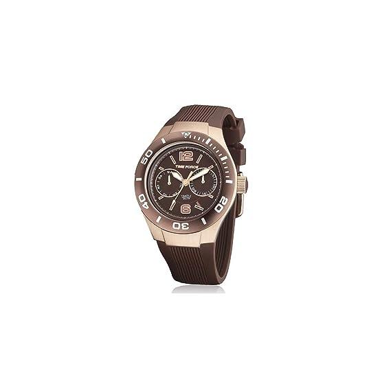Time Force Reloj analogico para Mujer de Cuarzo con Correa en Acero Inoxidable TF4181L15: Amazon.es: Relojes