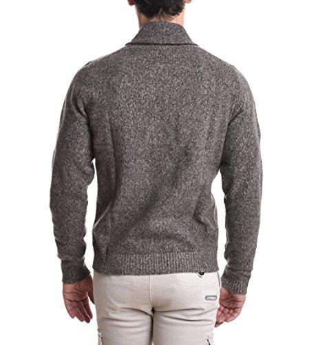 Eleventy Herren 979MA3034MAG200035 Braun Wolle Strickjacke
