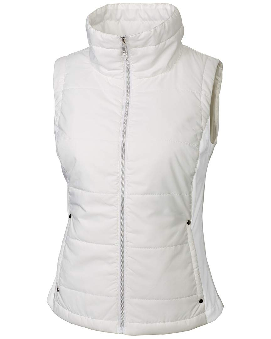 Cutter & Buck Women's CB Weathertec Claudia Quilted Vest, White, Small by Cutter