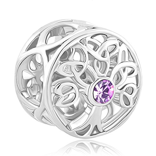 CoolJewelry Sterling Silver Family Tree Of life June Birt...