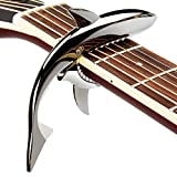 Mugig Guitar Capo,Shark Zinc Alloy Spring Capo, for Acoustic and Electric Guitar with Good Hand Feeling (Black )