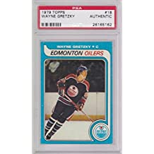 1979-80 Topps Wayne Gretzky OILERS ROOKIE RC #18 AUTHENTIC SLABBED ! - PSA/DNA Certified - Hockey Slabbed Autographed Cards