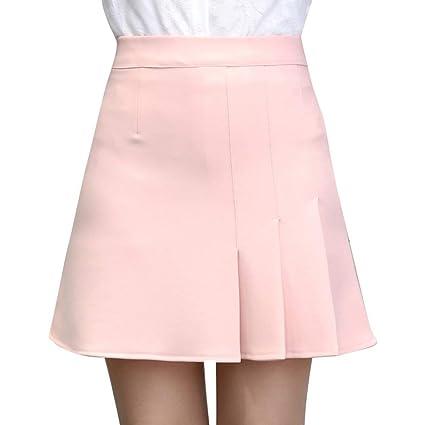 bbaec6aa8 JINSH Minifalda elástica Casual con Bolsillos Estilo Retro de ...