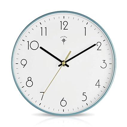 Size : 12inch Horloge Murale Ronde Silencieuse,Horloges À Quartz En Métal Et Verre Numériques For Le Salon De La Chambre À Coucher De Bureau À Lecture Facile Alimenté Par Batterie Ameublement et décoration
