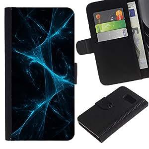 All Phone Most Case / Oferta Especial Cáscara Funda de cuero Monedero Cubierta de proteccion Caso / Wallet Case for Samsung Galaxy S6 // Disco Laser Lights Fog Black