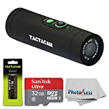 TACTACAM 4.0 With Custom Gun Mount + TACTACAM Rechargeable Battery + SanDisk Ultra 32GB microSDHC UHS-I Card with Adapter + Photo4Less Cleaning Cloth - Valued Accessory Bundle