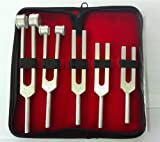 Tuning Fork Set of 5 {C128, C256, C512, C1024 and C2048 } FREE CASE