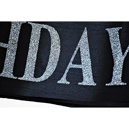"""BIRTHDAY SASH"" - ""Birthday Girl"" Sash For Women - Happy Birthday Sash For Partys- Sash With Silver Glitter Letters- Ideal for 18th, 21st, 30th-Birthday - ''Birthday Girl'' Sash by Gabriel's Market"