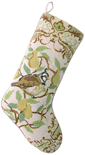 Peking Handicraft 31SJM2018AMC Vintage Style Christmas Needlepoint Stocking, 11x18, Multi Color -