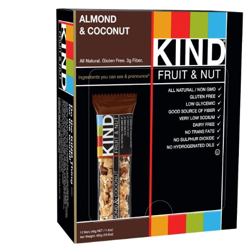 KIND Fruit & Nut, Almond & Coconut, All Natural, 1.4-Ounce Gluten Free Bars,12 count (Fruit & Nuts)